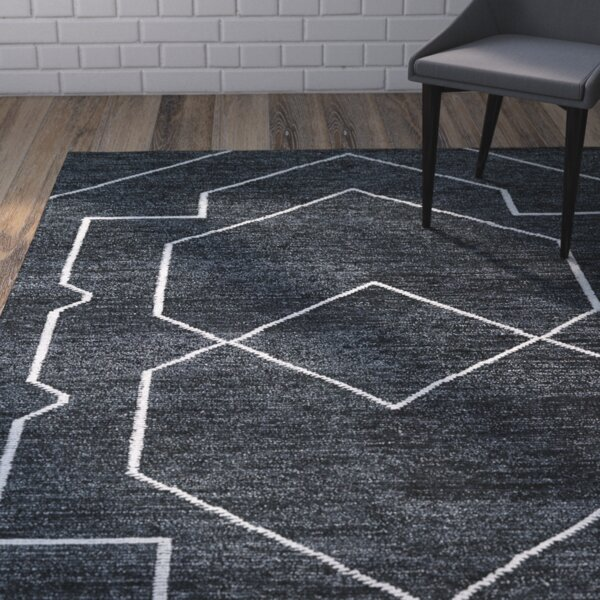 Mercury Row Aracely Handmade Charcoal / Ivory Area Rug U0026 Reviews | Wayfair