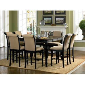 9 Piece Counter Height Dining Set  High Top Dining Room Table