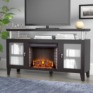 Yalobusha 60 TV Stand with Fireplace by Red Barrel Studio