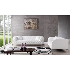 Modern Faux Leather Living Room Sets AllModern - White living room set
