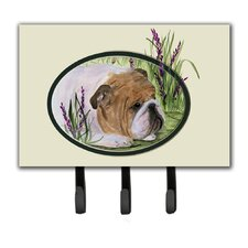 English Bulldog Leash Holder and Key Hook by Caroline's Treasures