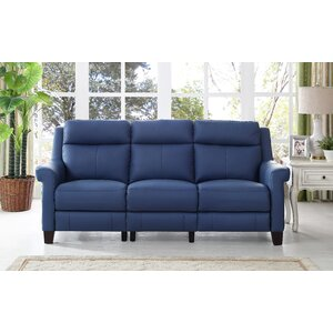 Dolce Leather Reclining Sofa by HYDELINE BY AMAX