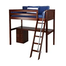 Knockout2 Loft Bed with Storage by Maxtrix Kids