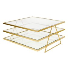 3 Tier Coffee Table with Magazine Rack by Worlds Away