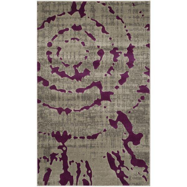 High Quality World Menagerie Varnai Light Gray/Purple Area Rug U0026 Reviews   Wayfair