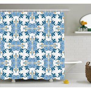 Tile Mosaic Design Decor Shower Curtain
