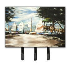 Sailing Lessons Sailboats Key Holder by Caroline's Treasures