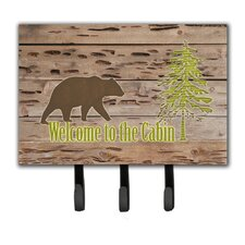 Welcome To The Cabin Leash Holder and Key Hook by Caroline's Treasures