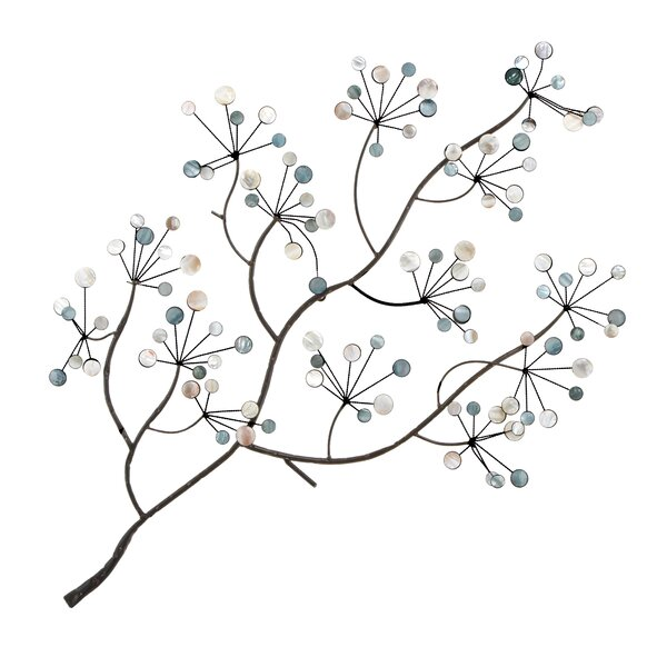 Abchomecollection metal acrylic tree branch wall decor for Kitchen cabinets lowes with metal tree branch wall art