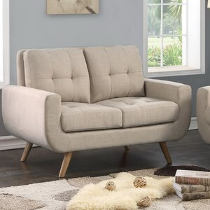 Clementina Tufted Loveseat by iNSTANT HOME