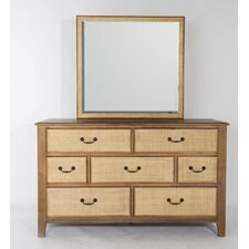Linen 7 Drawer Dresser with Mirror by Panama Jack Home