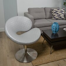 C Shape Swivel Papasan Chair by Matrix