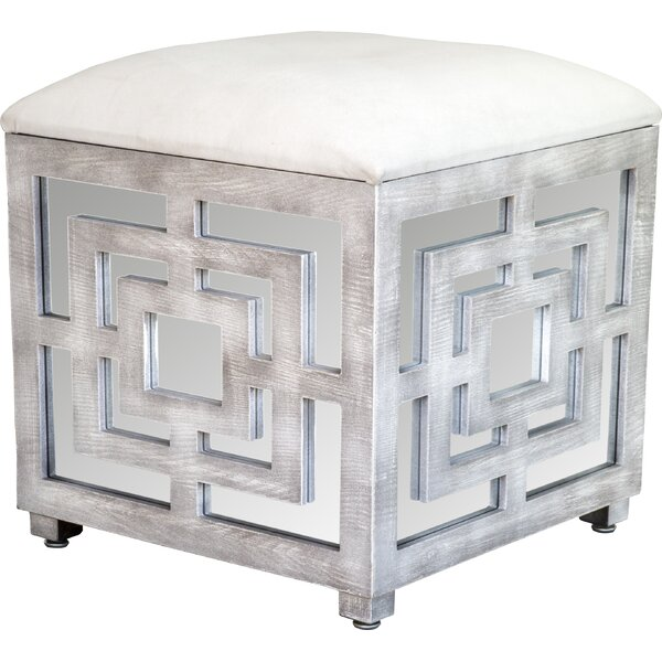 Best Ottoman Coffee Table Ideas, Mirrored Cube Ottoman with Storage