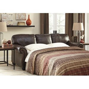 Baxter Springs Leather Sleeper by Darby Home Co
