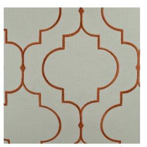 Hampton Embroidered Window Geometric Semi Sheer Rod Pocket Curtain Panels  (Set Of 2)