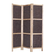 67 x 48 Sumatra 3 Panel Room Divider by Screen Gems
