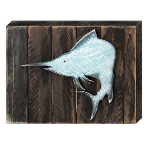 Vintage Swordfish Tropical Wooden Board Wall Décor