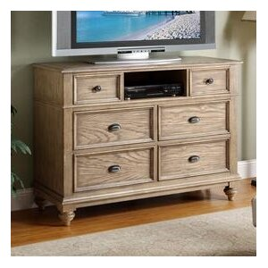 Quevillon 6 Drawer Wood Media Chest by Lark Manor