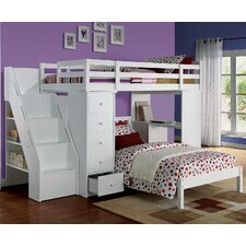 Freya Loft Bed with Bookshelf Ladder by ACME Furniture