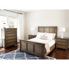 Justin Weathered Oak Panel 4 Piece Bedroom Set by Laurel Foundry Modern Farmhouse