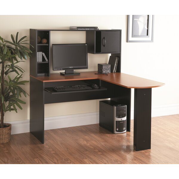 Zipcode Design Marvin L-Shape Computer Desk with Hutch & Reviews ...