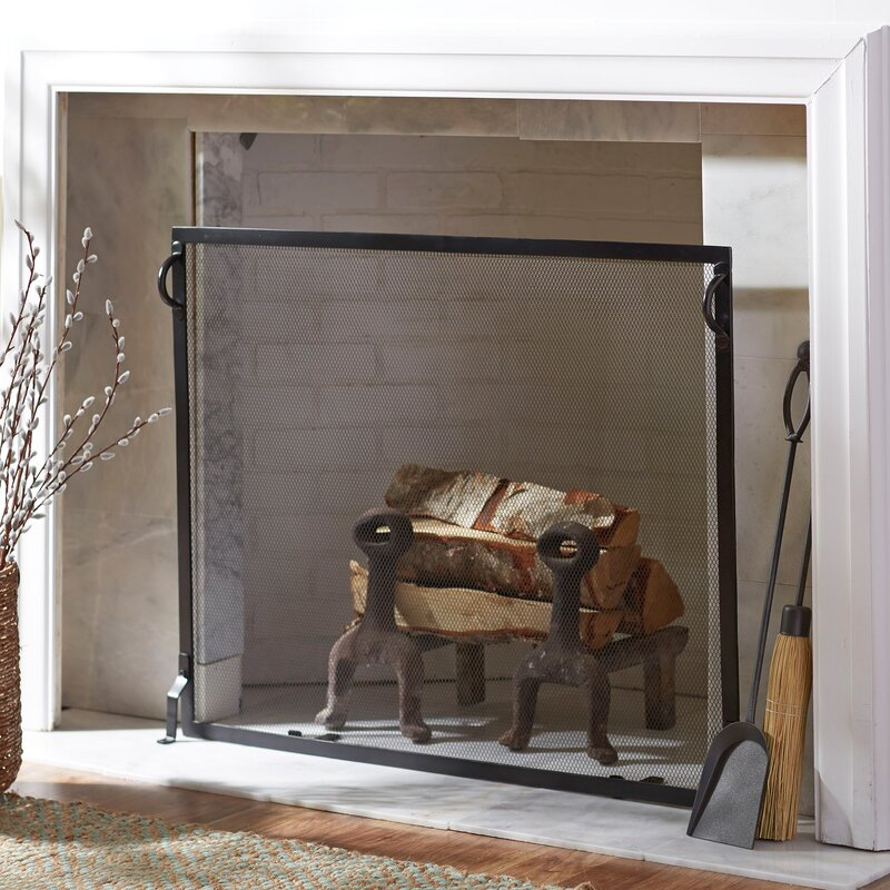 Simmons Flat Fireplace Screen & Reviews | Birch Lane