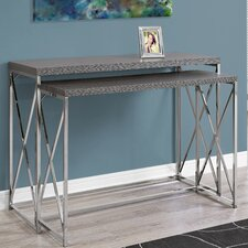 2 Piece Console Table Set by Monarch Specialties Inc.