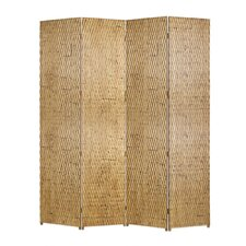 Gilded 84 x 84 4 Panel Room Divider by Screen Gems