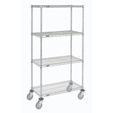 Wire Stem Caster Truck 4 Shelf Shelving Unit by Nexel