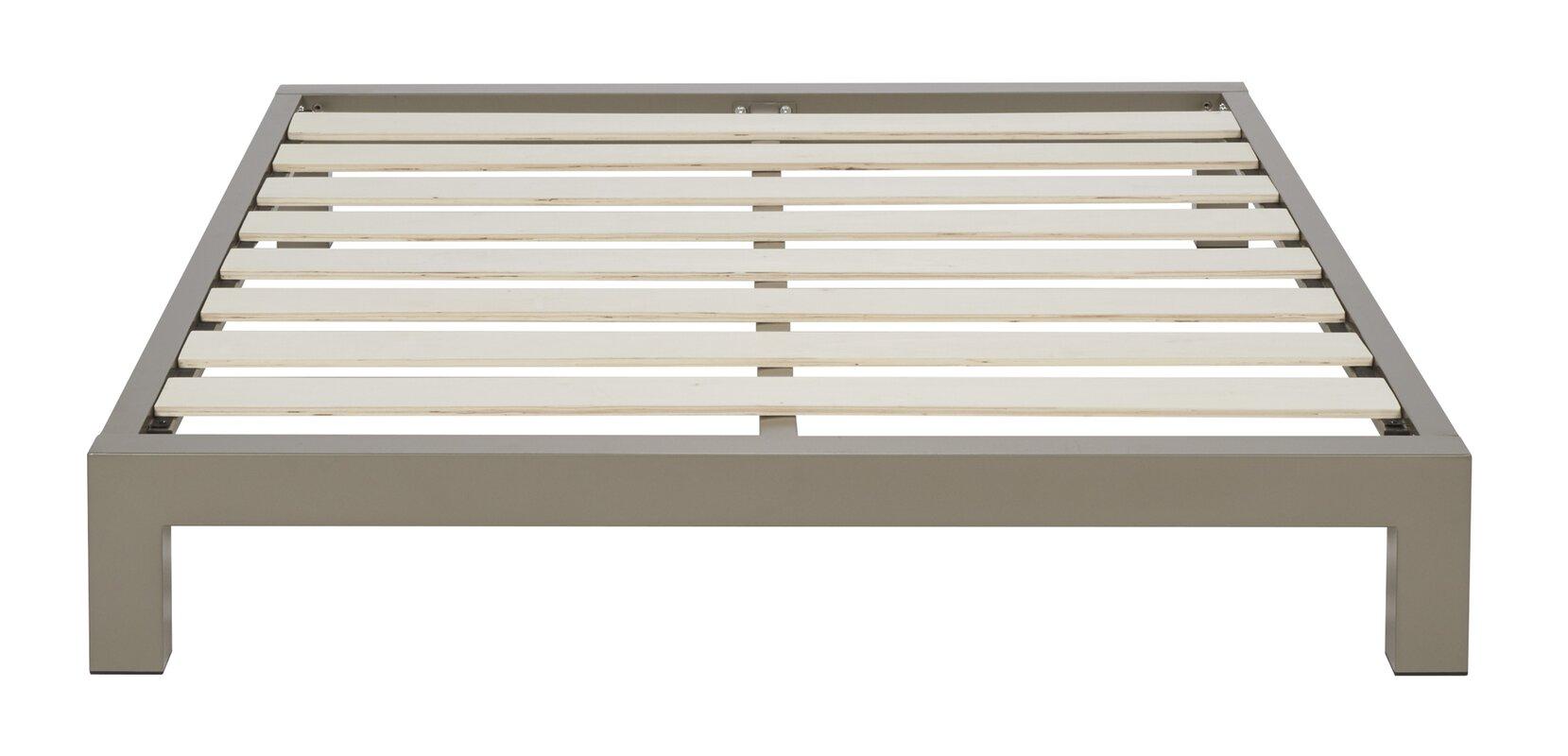 Fenton modern dark brown queen platform bed free shipping today - Stella Platform Bed