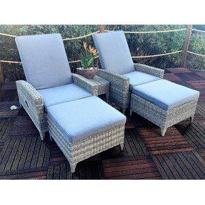 Windsor Sun Lounger Set with Cushions (Set of 2)