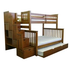 Twin over Full Bunk Bed with Trundle by Bedz King