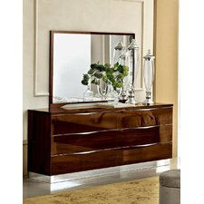 6 Drawer Combo Dresser with Mirror by Noci Design