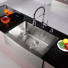 Kitchen Combos 30 X 20 Single Basin Farmhouse Apron Kitchen Sink With Faucet
