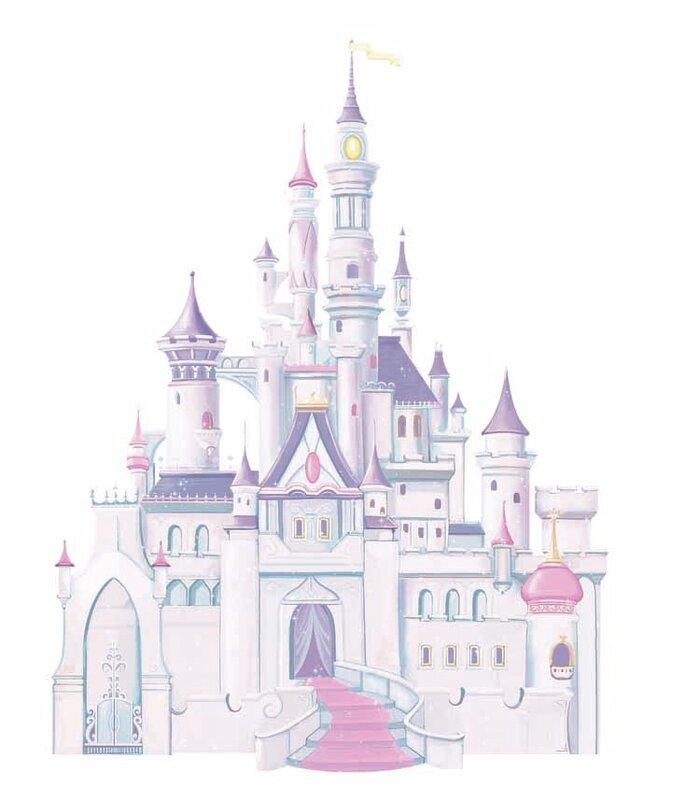 Wallhogs Disney Cinderella Princess Castle Cutout Wall Decal - Wall decals disney