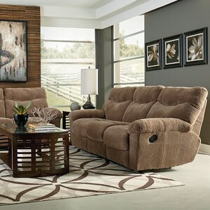 Sandusky Taupe Brown Manual Motion Reclining Sofa by Red Barrel Studio