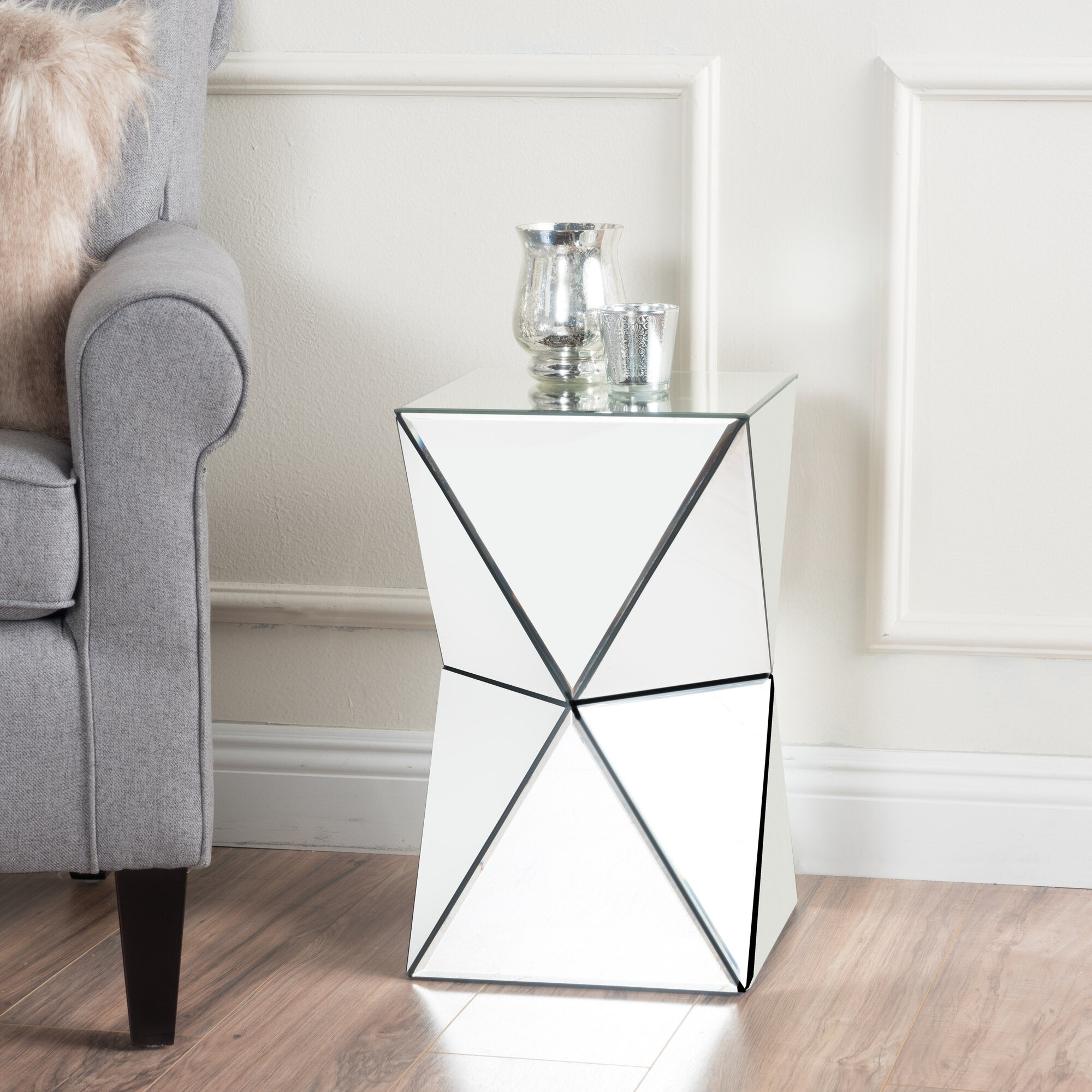 Willa Arlo Interiors Conrad Mirrored Accent End Table Reviews