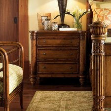 Island Estate 3 Drawer Bachelor's Nightstand by Tommy Bahama Home