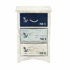 3 Drawer Wood Nautical Accent Chest by Cole & Grey