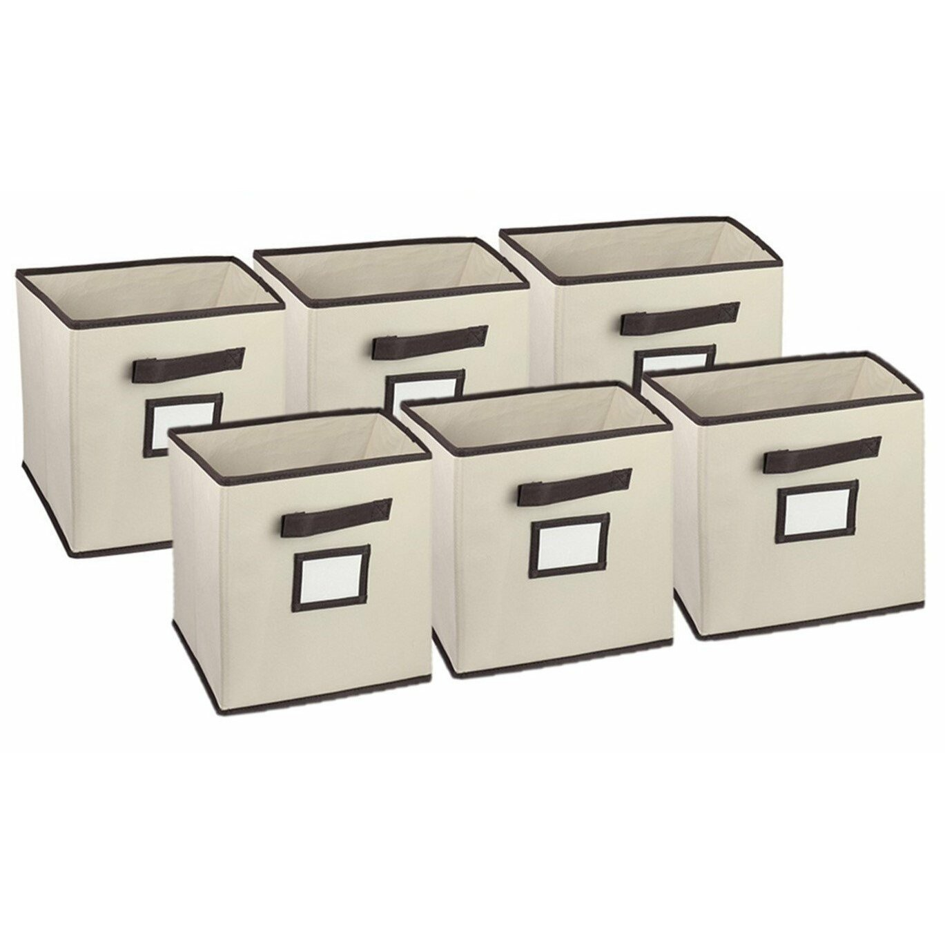 Hangorize Collapsible Fabric Cubicle Storage Bin With