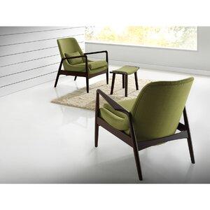 Ellen Mid-Century Modern Upholstered Leisure Armchair by Latitude Run