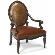 Strattanville Leather Arm Chair by Astoria Grand