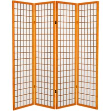 Noan 71 x 63 Window Pane 4 Panel Room Divider by World Menagerie