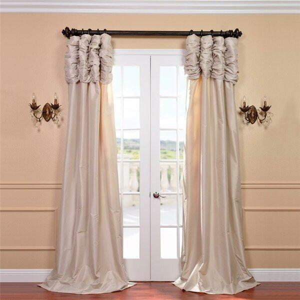 Superb Astoria Grand Hallman Ruched Faux Silk Taffeta Thermal Rod Pocket Single  Curtain Panel U0026 Reviews | Wayfair