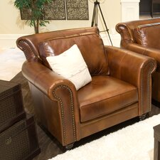Paladia Top Grain Leather Armchair by Elements Fine Home Furnishings