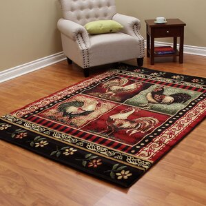Lodge Brown/Red Area Rug