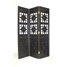 72 x 60 Gothic Diamond 3 Panel Room Divider by Wayborn