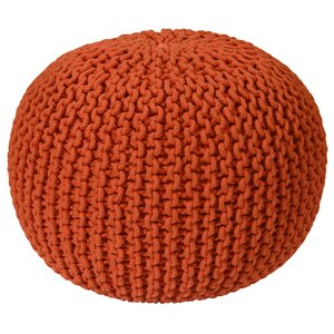 Anemone Rope Upholstered Pouf Ottoman by Ivy Bronx