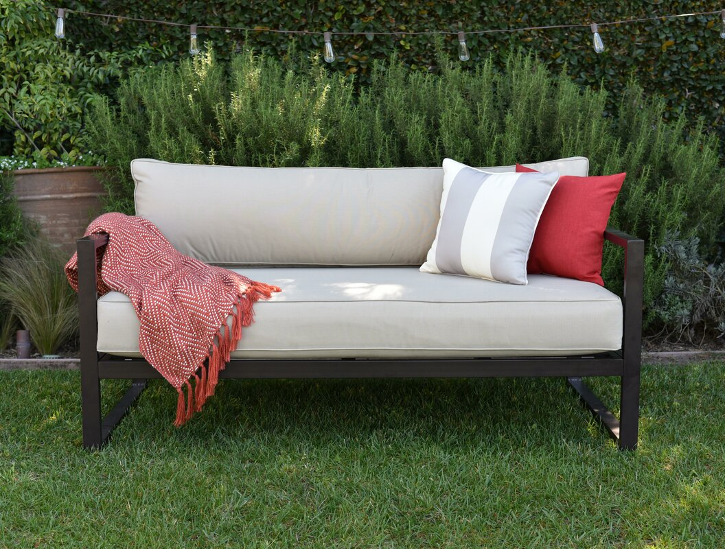 catalina outdoor sofa with cushions reviews allmodern. Black Bedroom Furniture Sets. Home Design Ideas