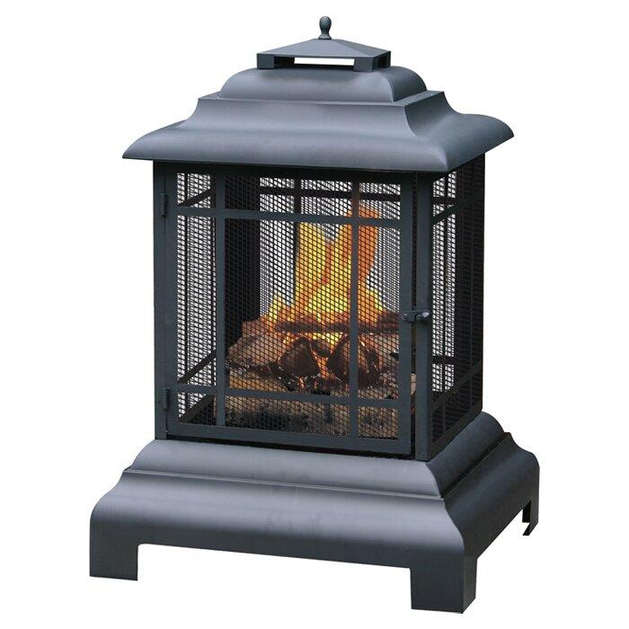 Uniflame Cast Iron Wood Burning Outdoor Fireplace Reviews Wayfair